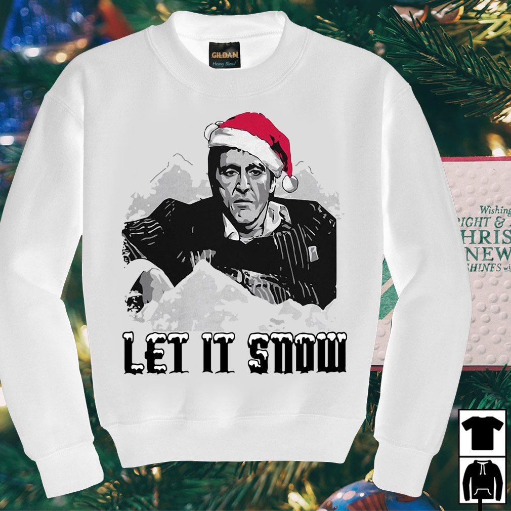 Scarface let it snow Christmas sweater