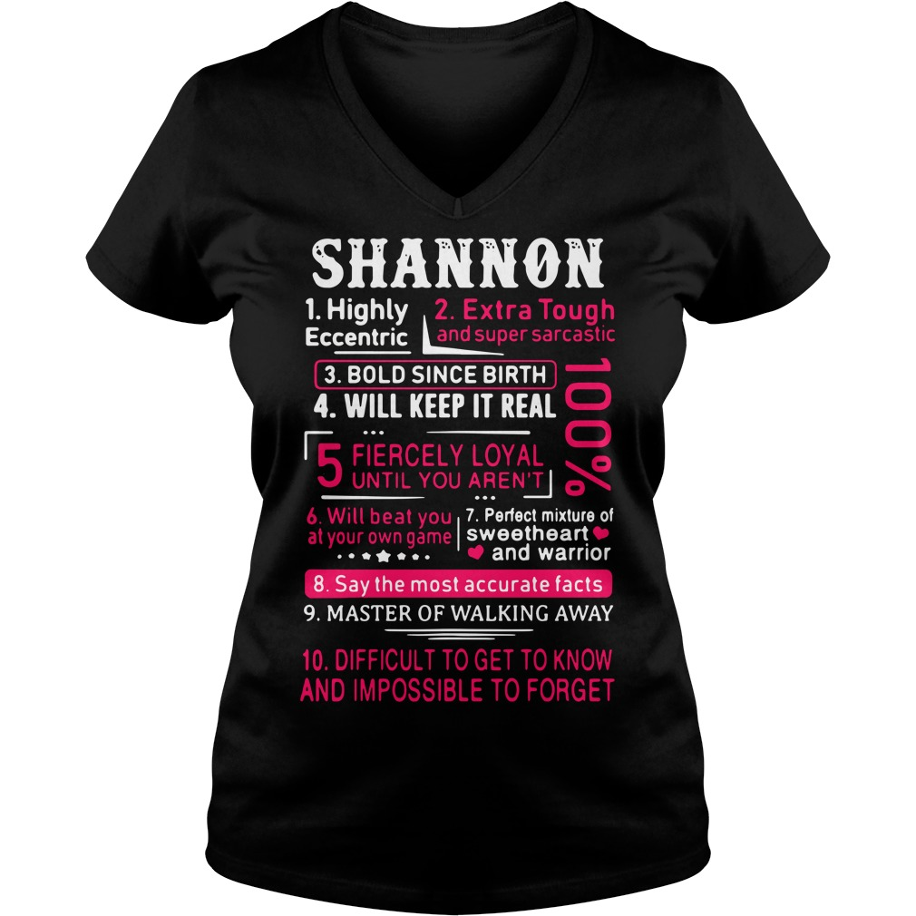 Shannon highly eccentric extra tough and super sarcastic V-neck T-shirt