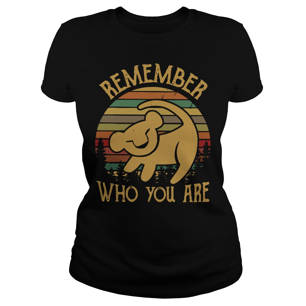 Simba remember who you are vintage Ladies Tee