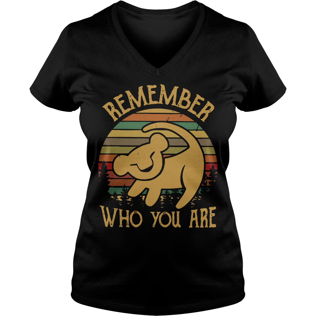 Simba remember who you are vintage V-neck T-shirt