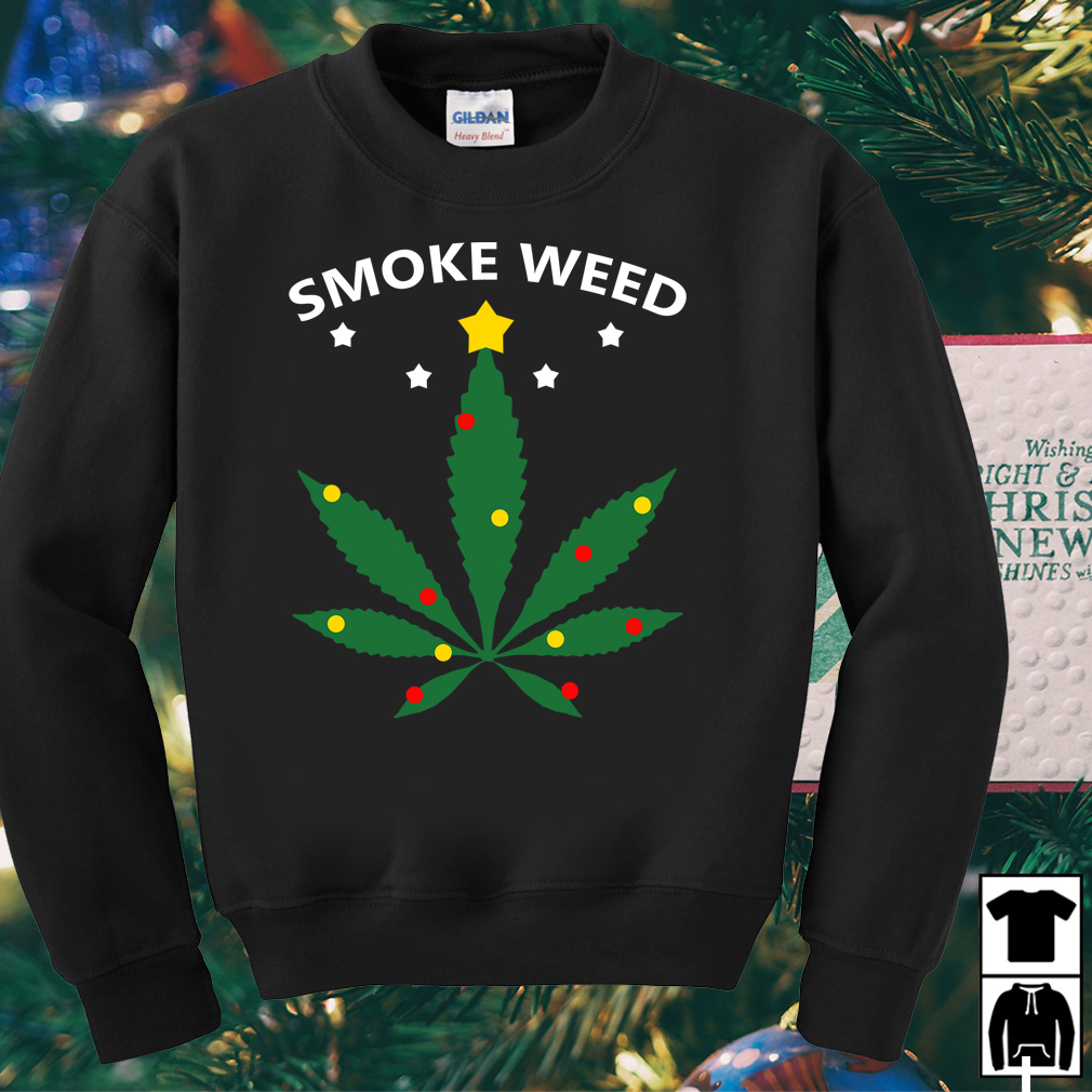 Smoke Weed everyday Christmas sweater
