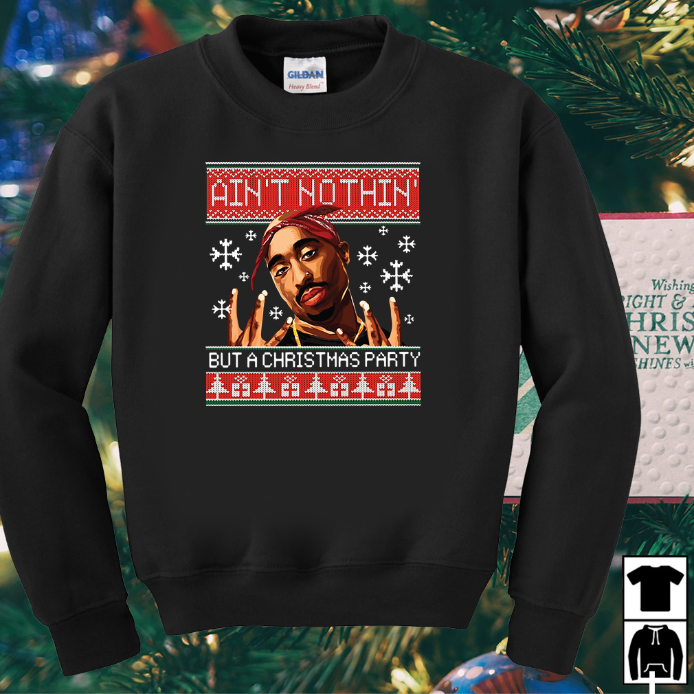 Snoop Dogg Ain't nothin' but a Christmas party ugly sweater