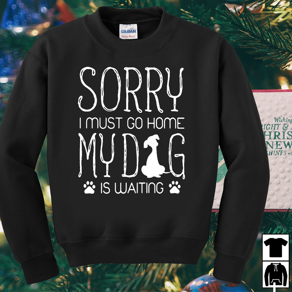 Sorry I must go home my Dog is waiting shirt