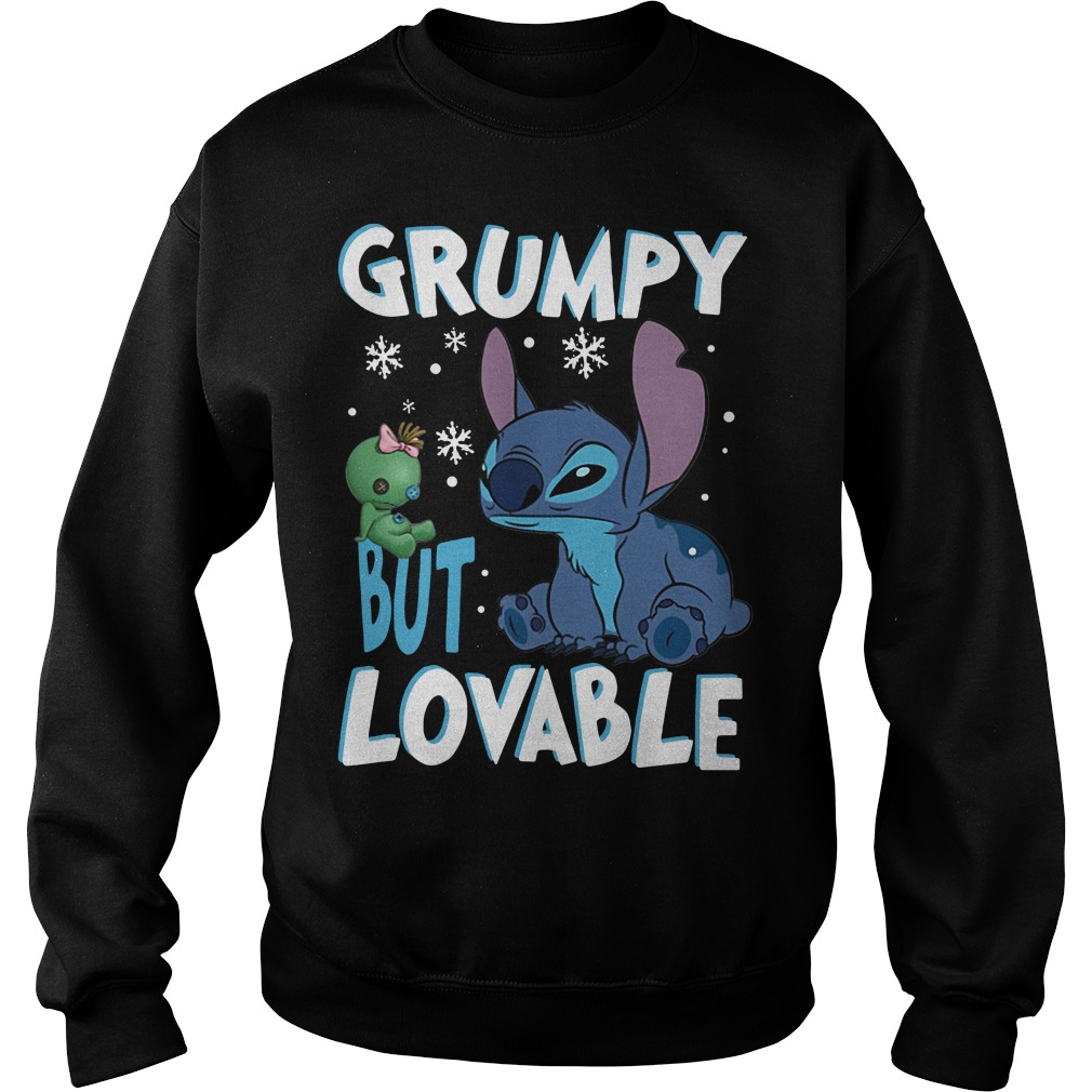 Stitch Grumpy but lovable Christmas Sweater