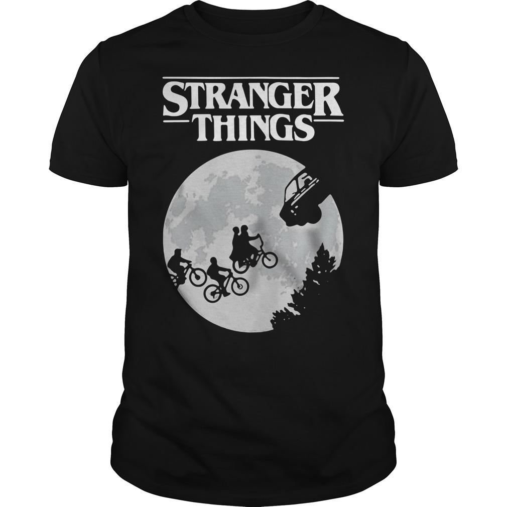 Stranger Things ET Moon Guys shirt