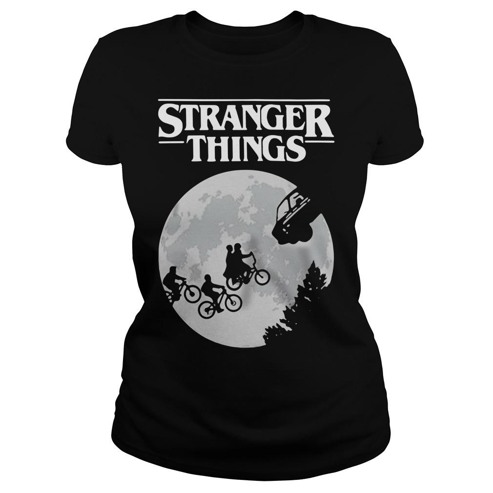 Stranger Things ET Moon Ladies tee