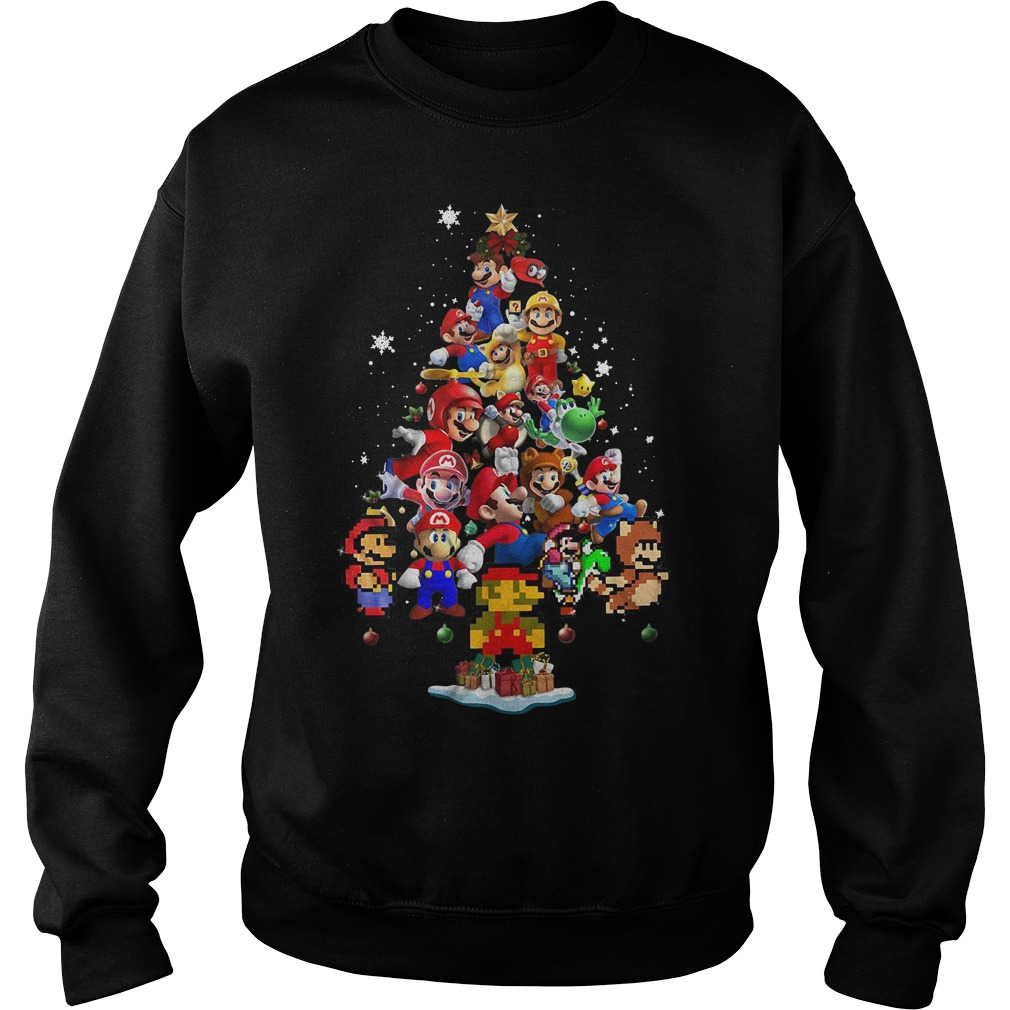 Super Mario Christmas tree Sweater