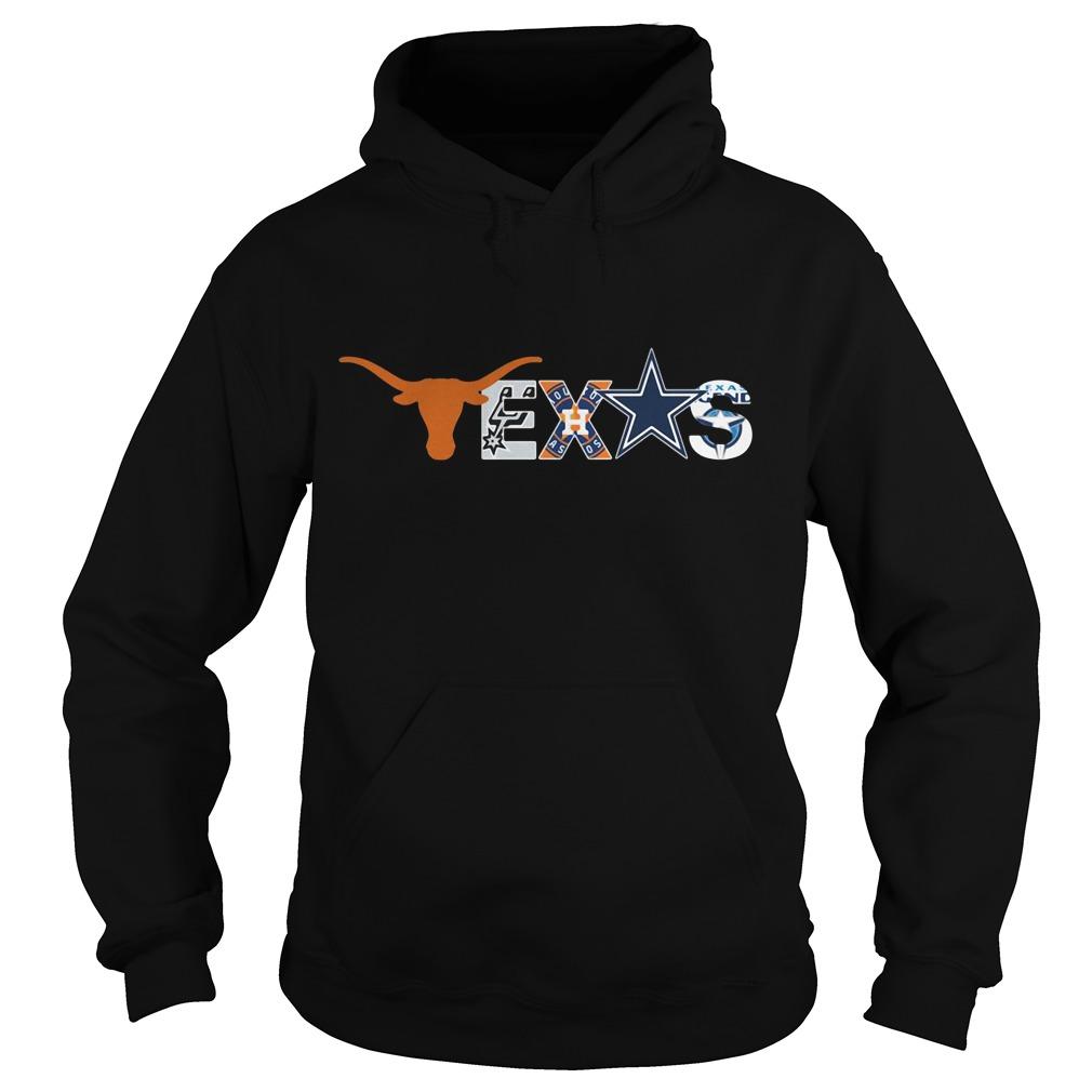 Texas Longhorns San Antonio Spurs Houston Astros Dallas Cowboys Hoodie
