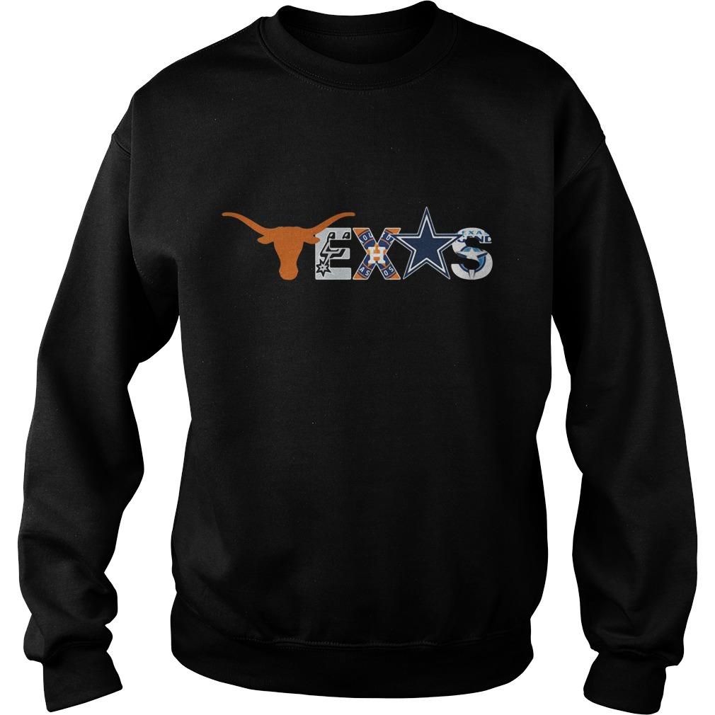 Texas Longhorns San Antonio Spurs Houston Astros Dallas Cowboys Sweater