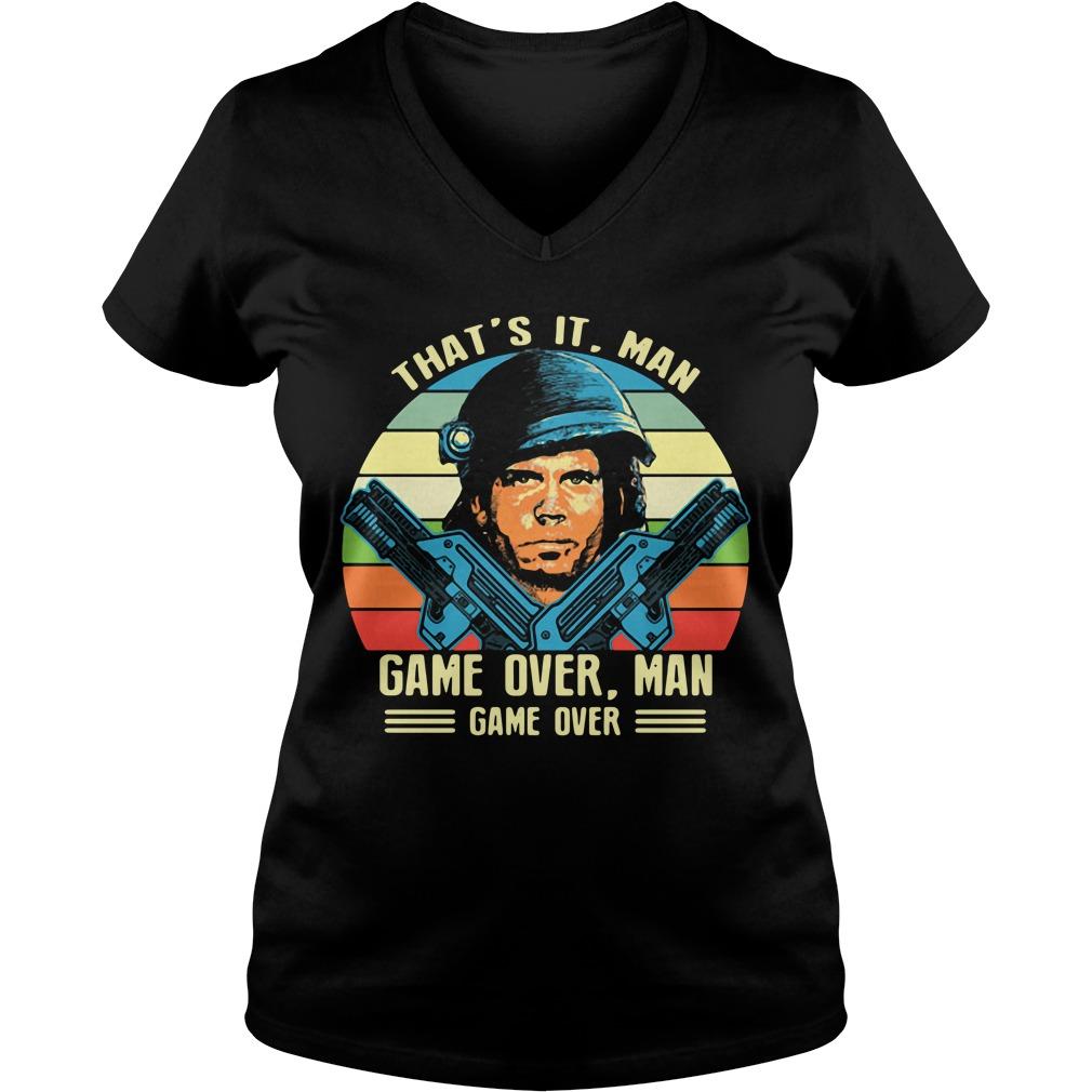 That's IT Man game over man gave over vintage V-neck T-shirt