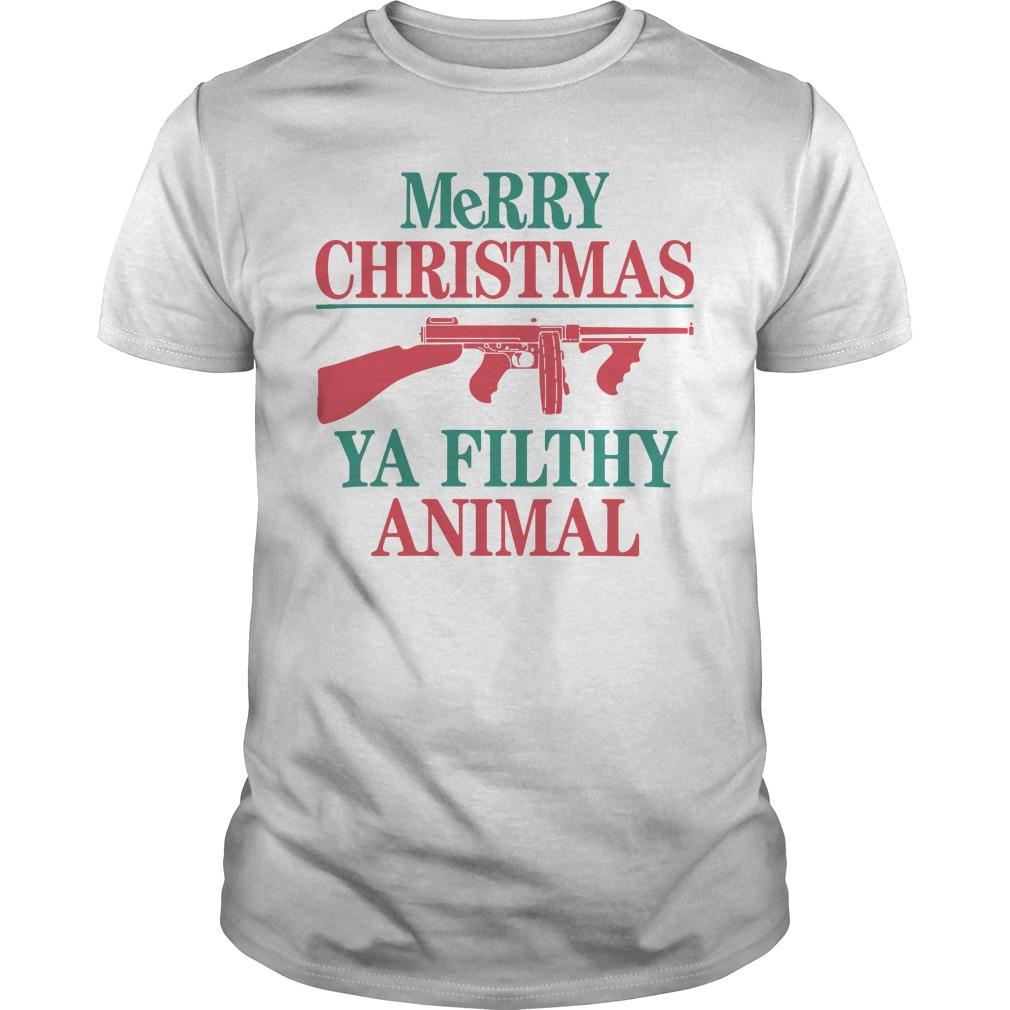 Thompson Submachine Merry Christmas Ya Filthy Animal Sweater