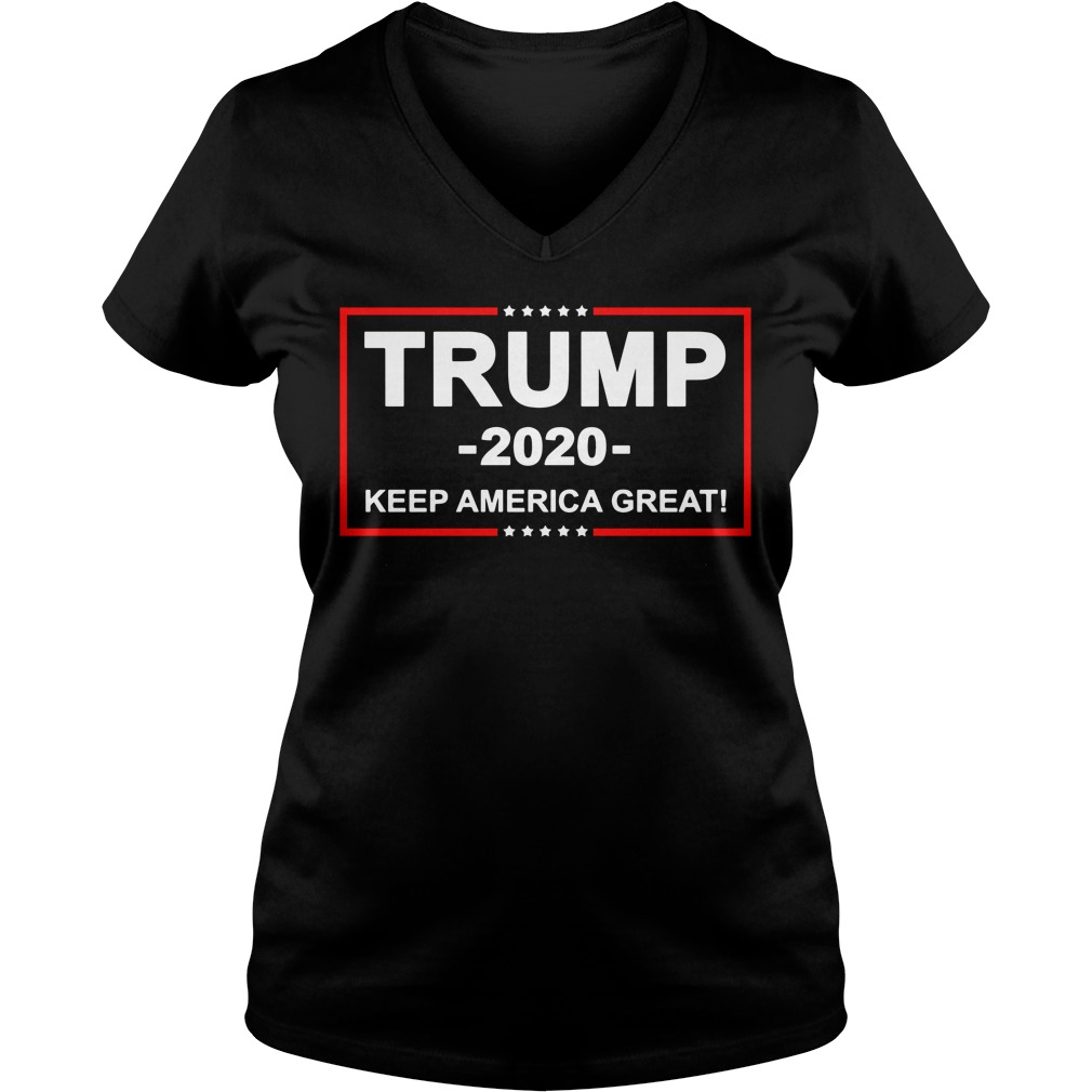 Trump 2020 keep America great V-neck T-shirt