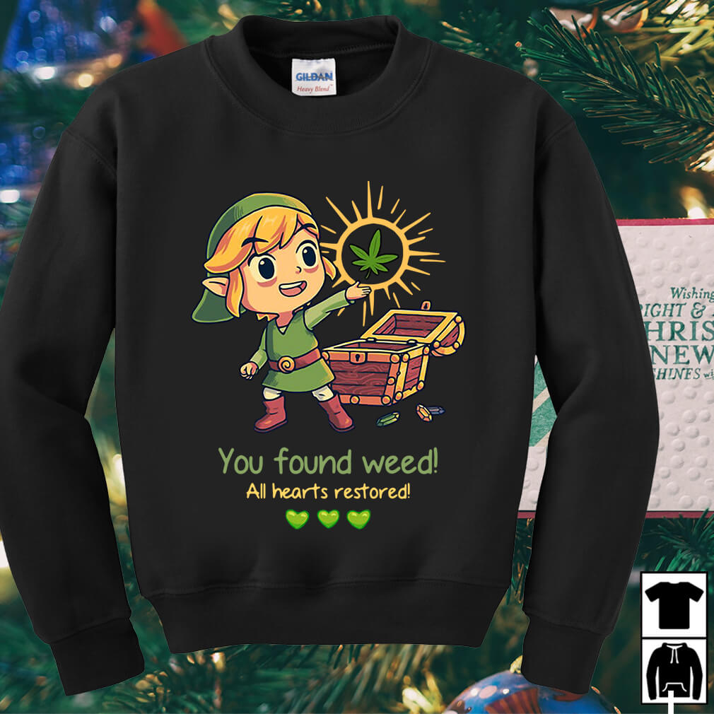Twilight Princess You found weed all hearts restored shirt