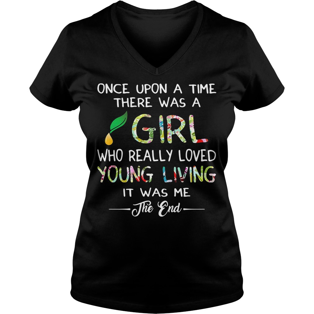 Once upon a time there was a girl who really loved young V-neck T-shirt