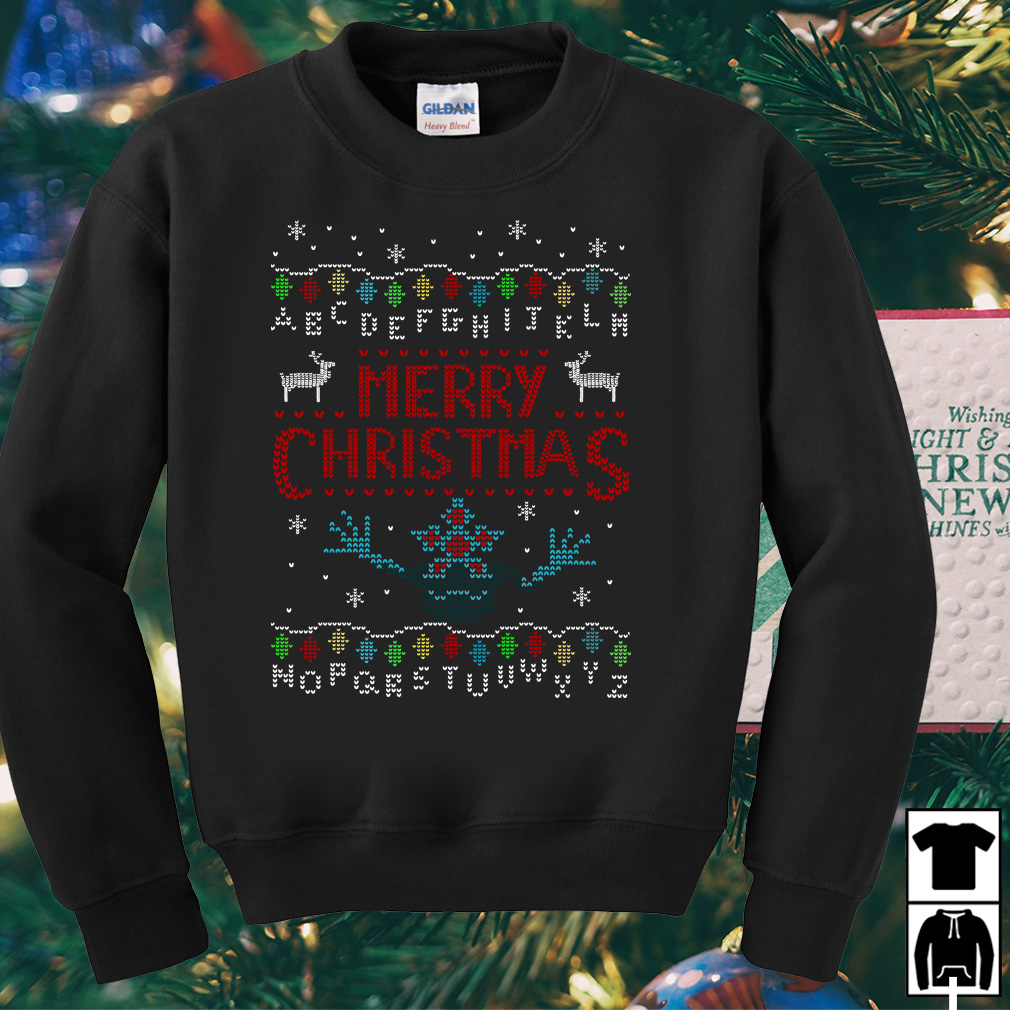 Upside Down Stranger Things merry Christmas sweater