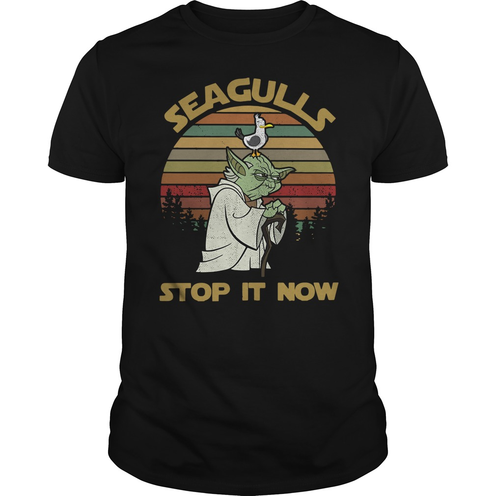 Vintage Seagulls stop it now Guys Shirt