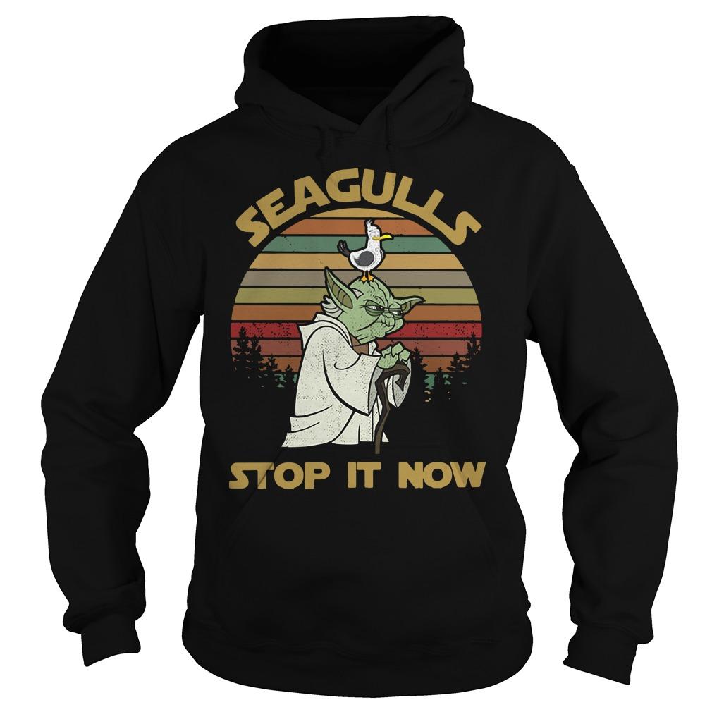 Vintage Seagulls stop it now Hoodie