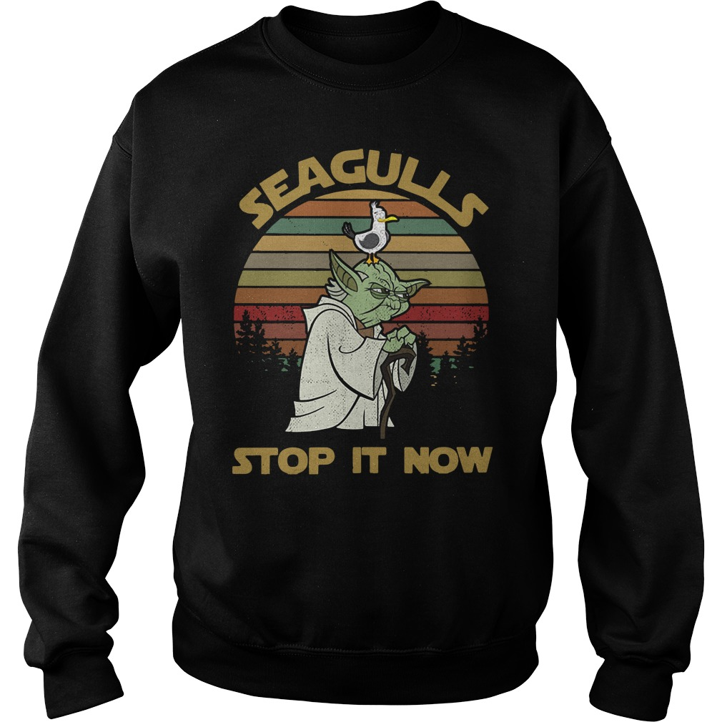 Vintage Seagulls stop it now Sweater