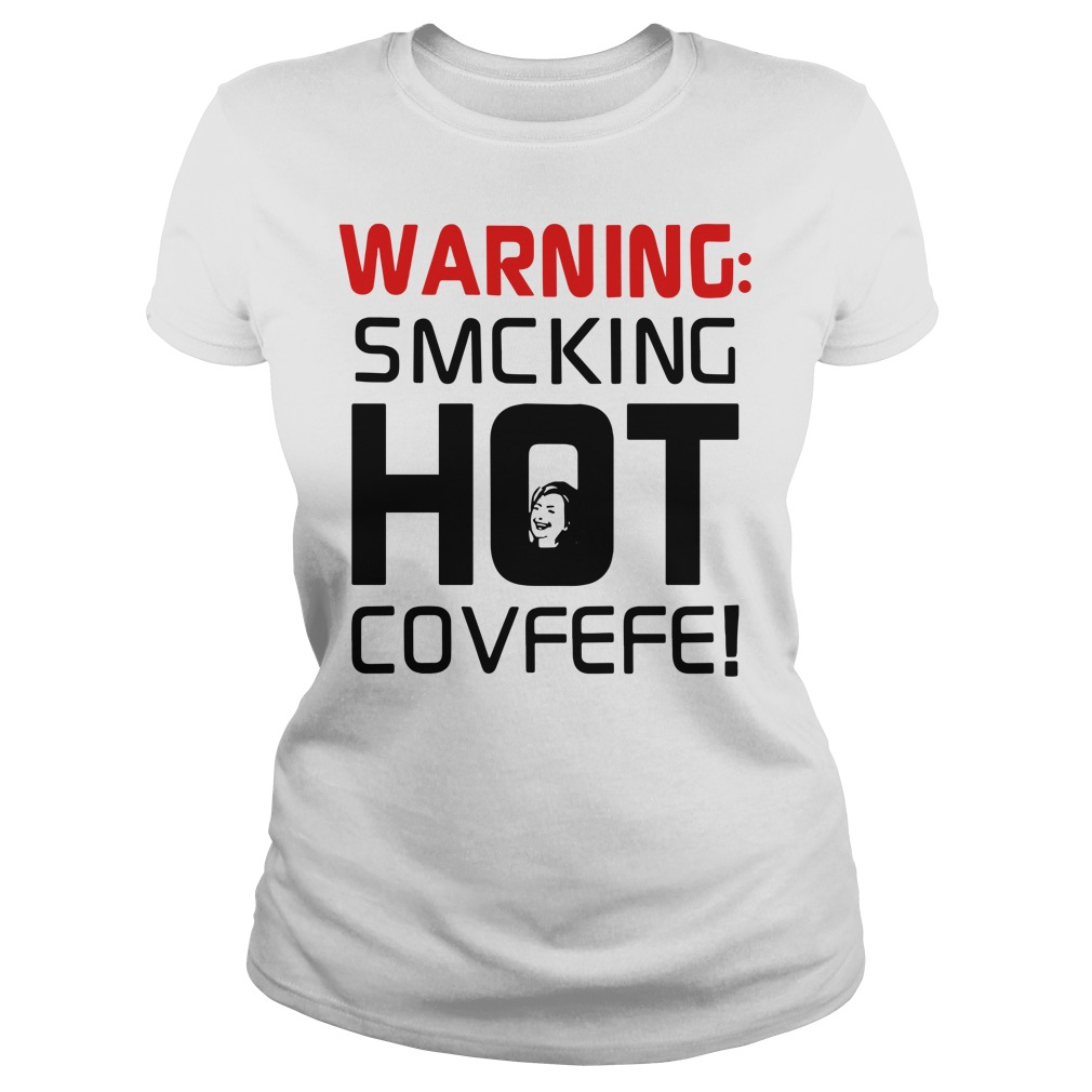 Warning Smcking Hot Covfefe V-neck T-shirt