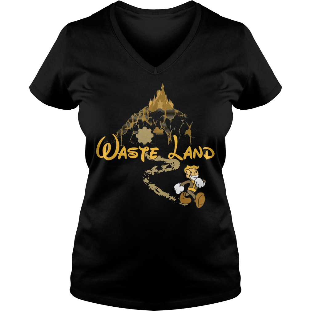 West Virginia wasteland disney V-neck T-shirt