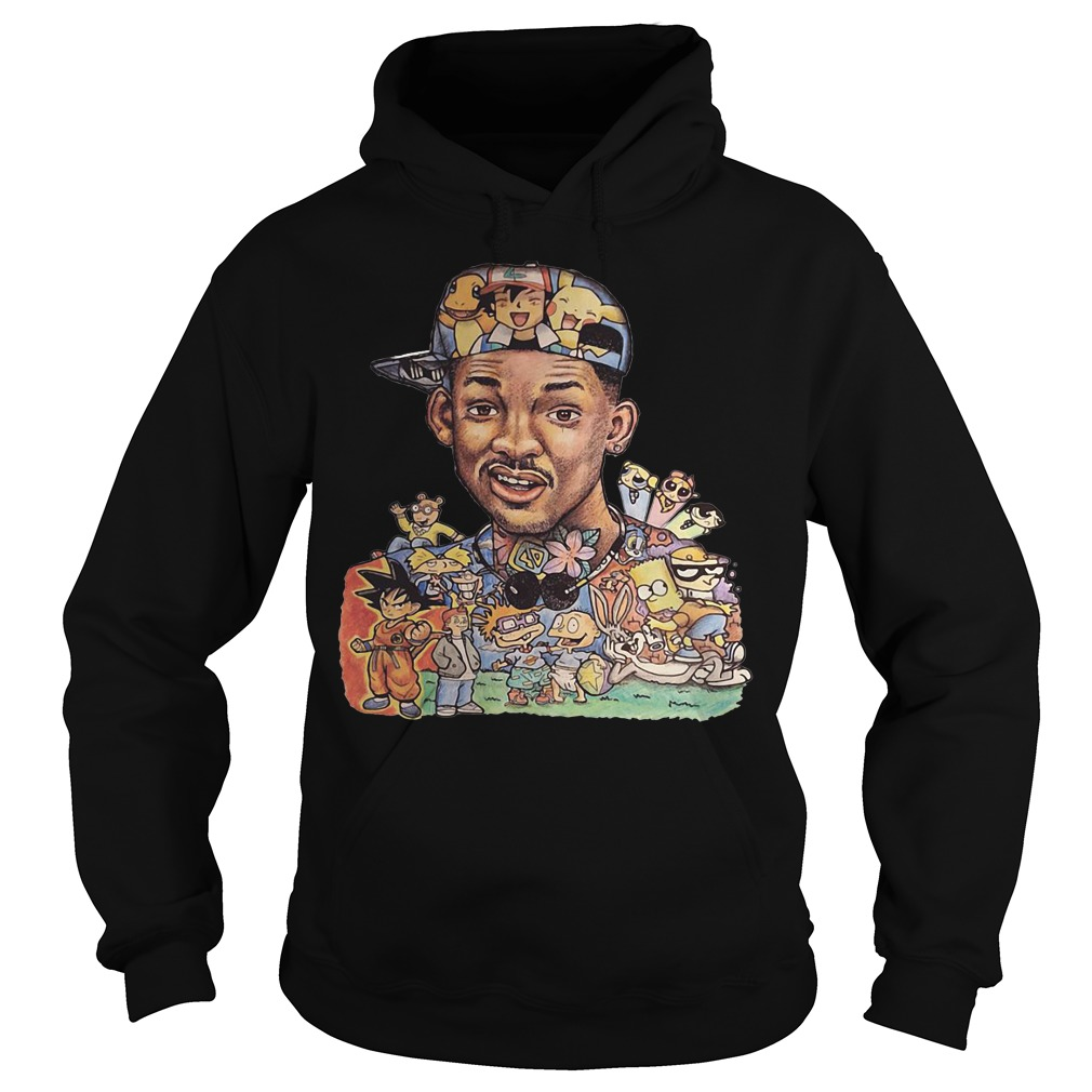 Will Smith and cartoon characters Hoodie