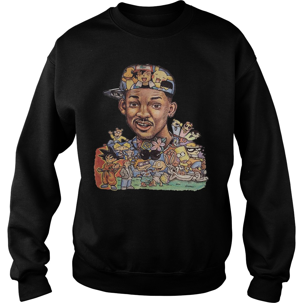 Will Smith and cartoon characters Sweater