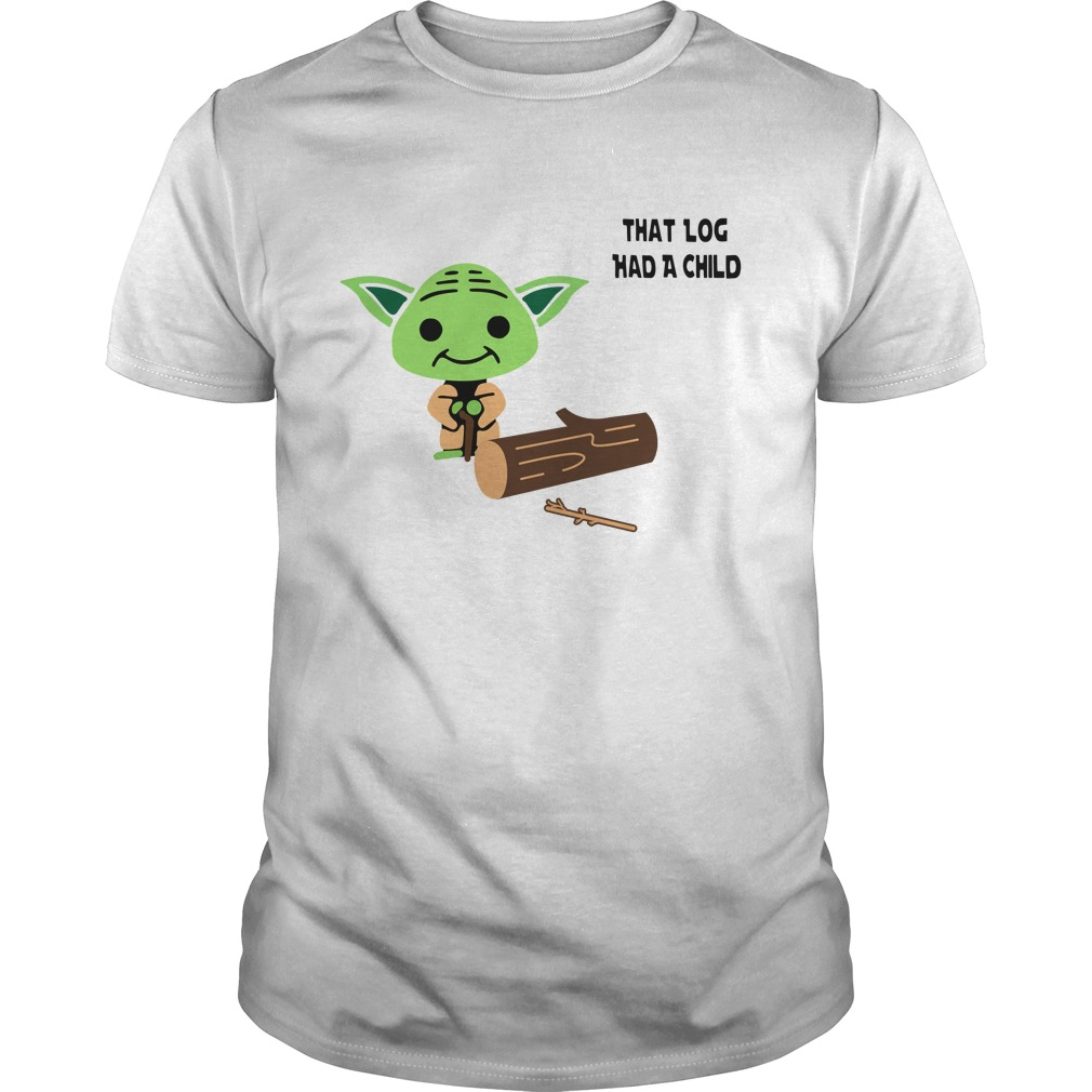 Yoda Seagulls that log had a child Guys Shirt