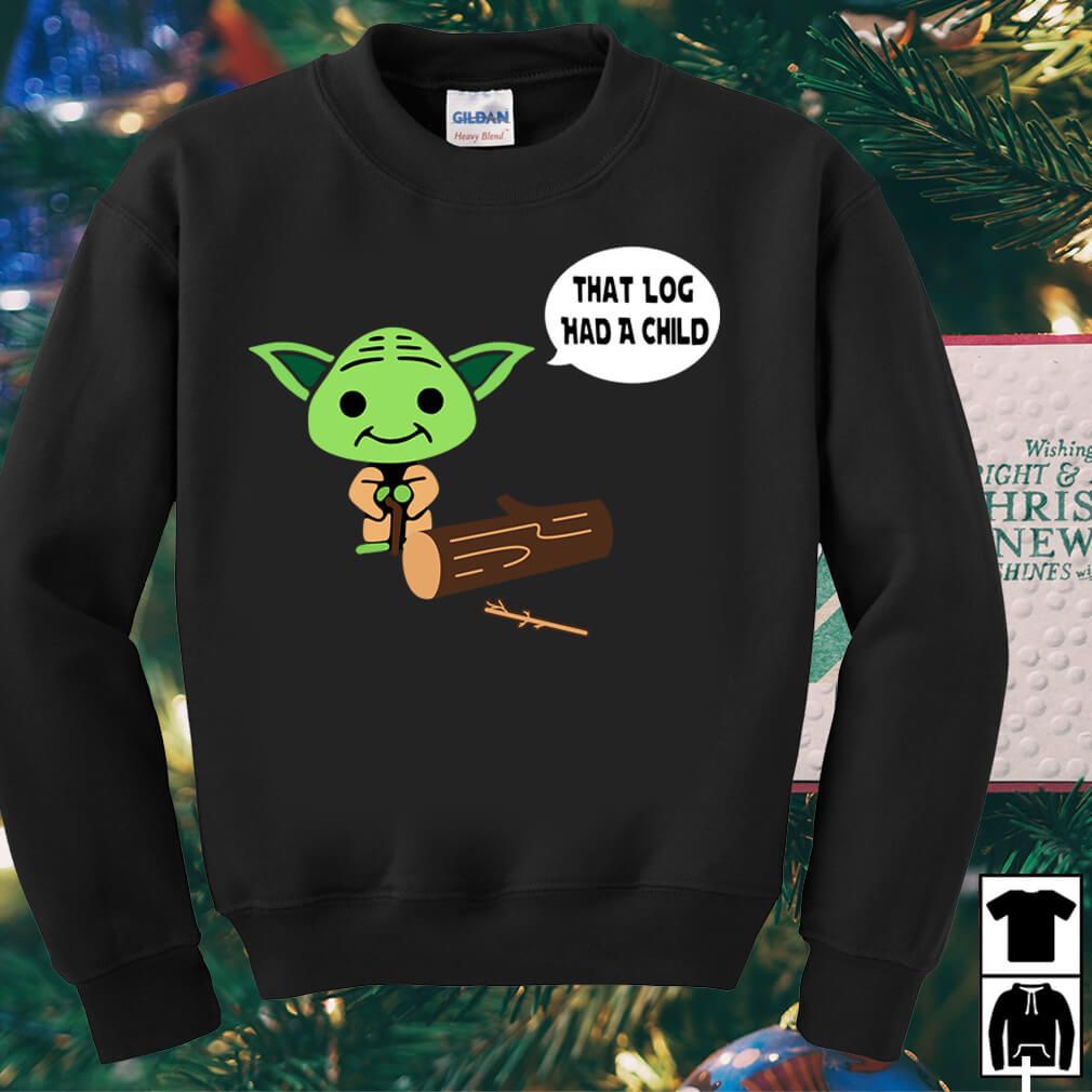 Yoda Seagulls that log had a child shirt