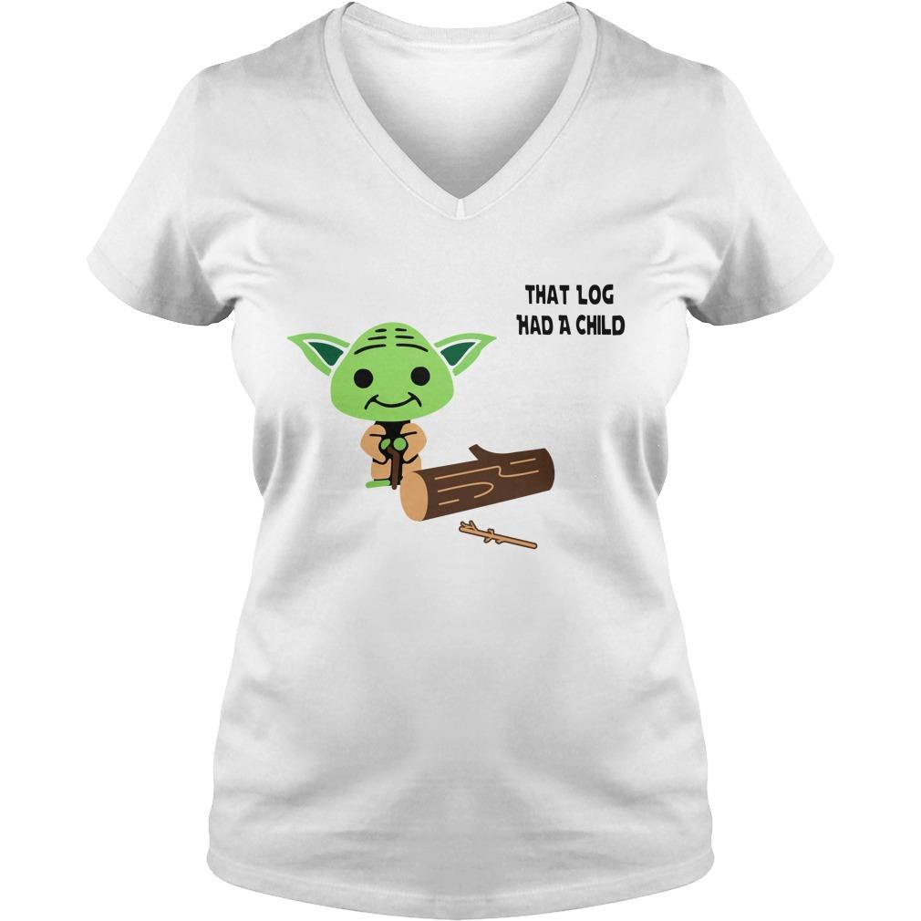 Yoda Seagulls that log had a child V-neck T-shirt