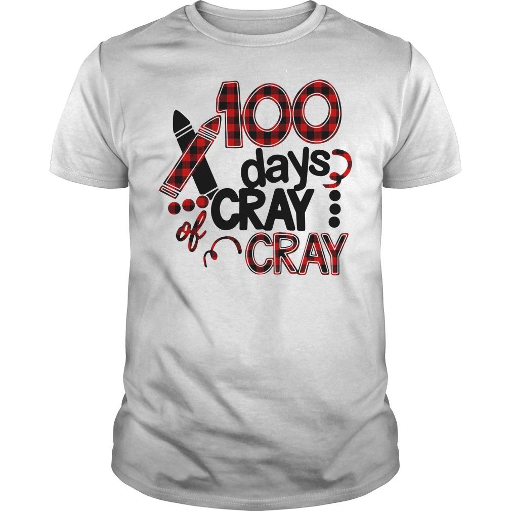 100 days of cray cray school birthday Guys Shirt