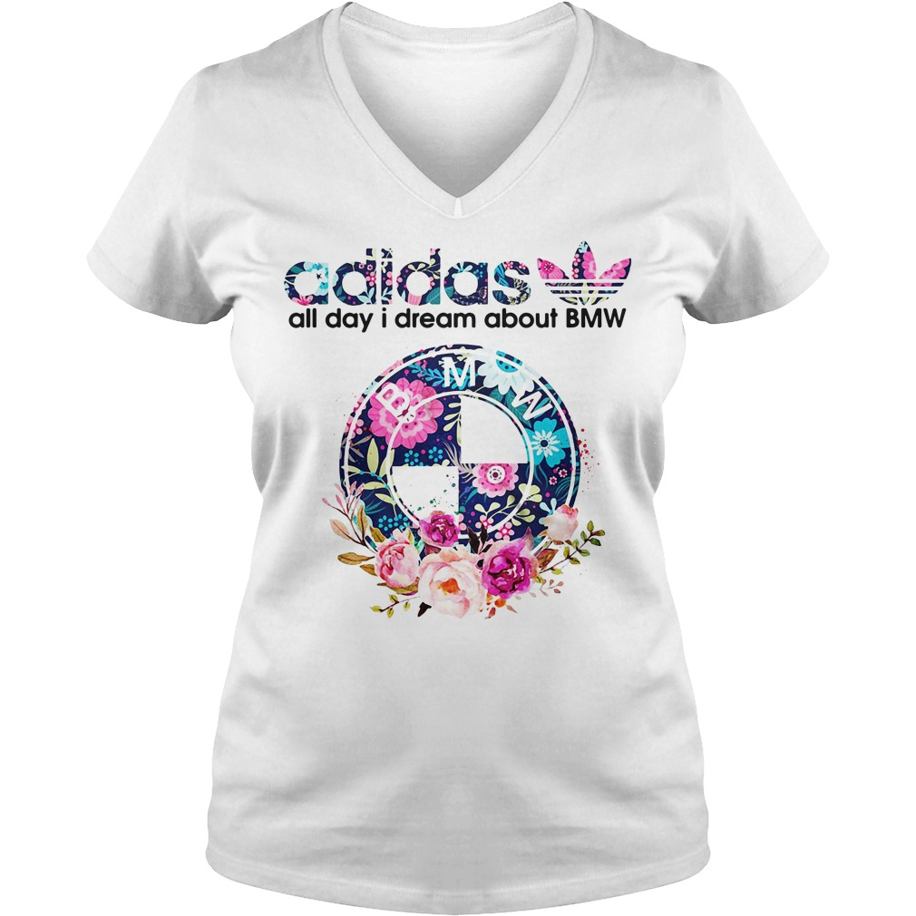Adidas all day I dream about BMW V-neck T-shirt