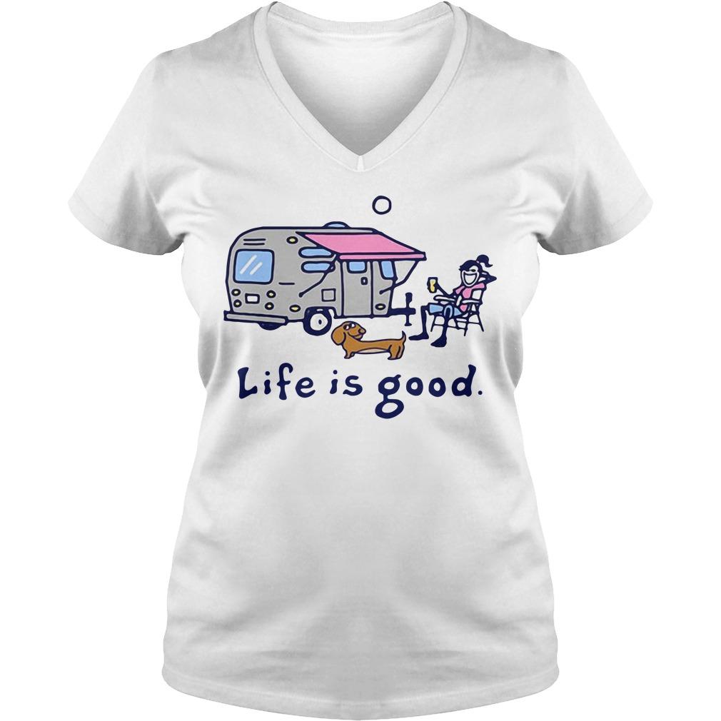 Airstream Lemonade Life is good V-neck T-shirt