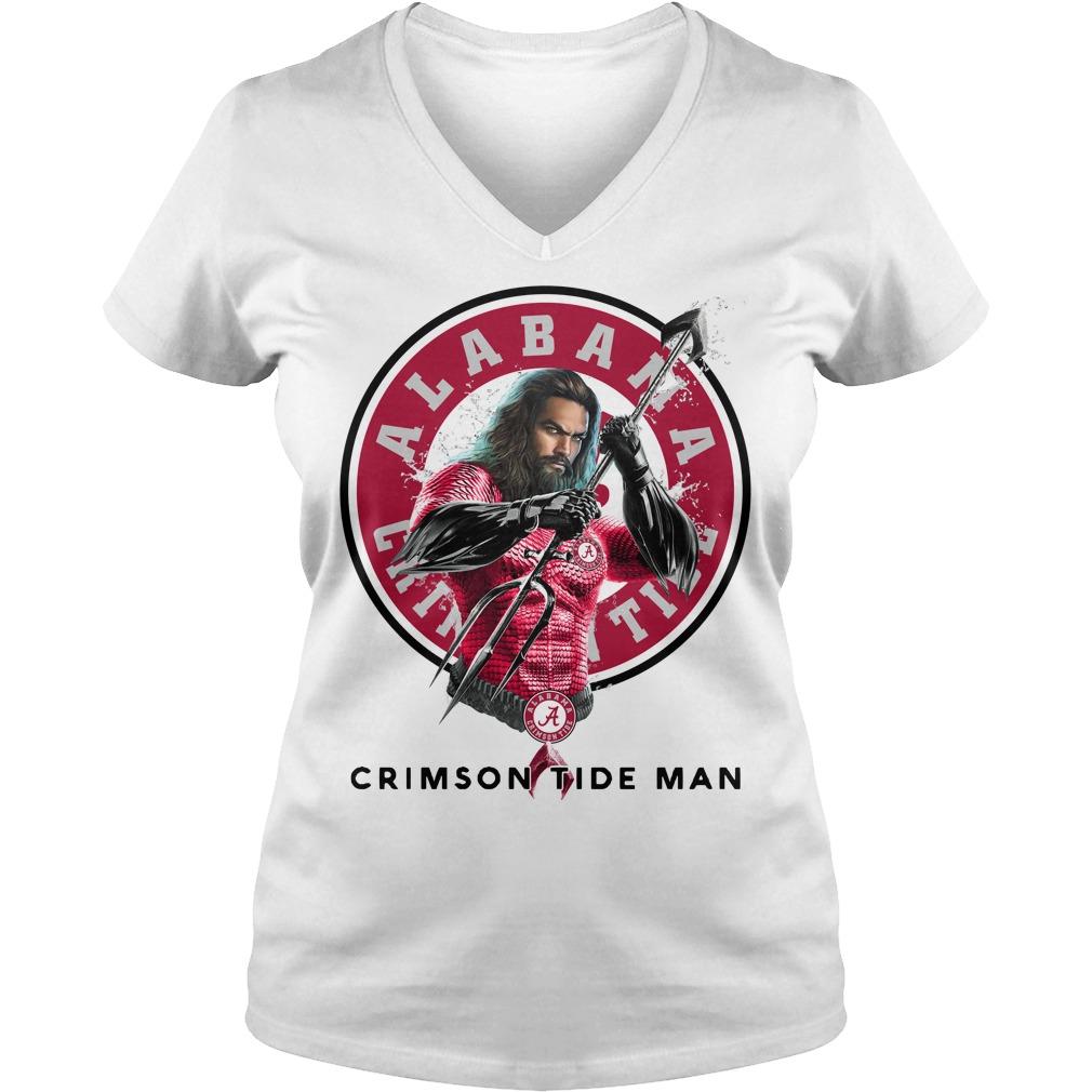 Alabama Crimson Tide Aquaman Crimson Tide Man V-neck T-shirt