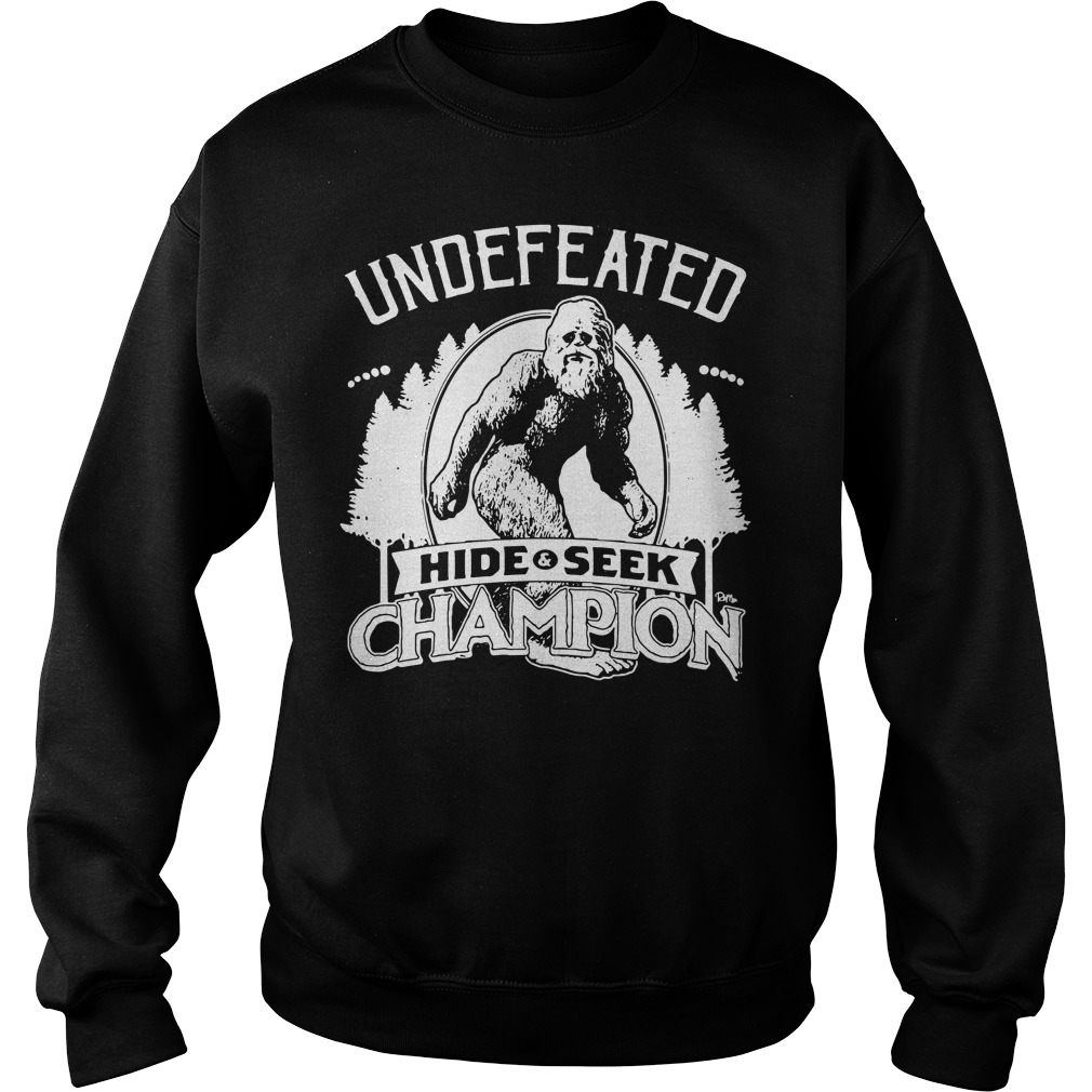 Bigfoot Undefeated hide and seek champion Sweater