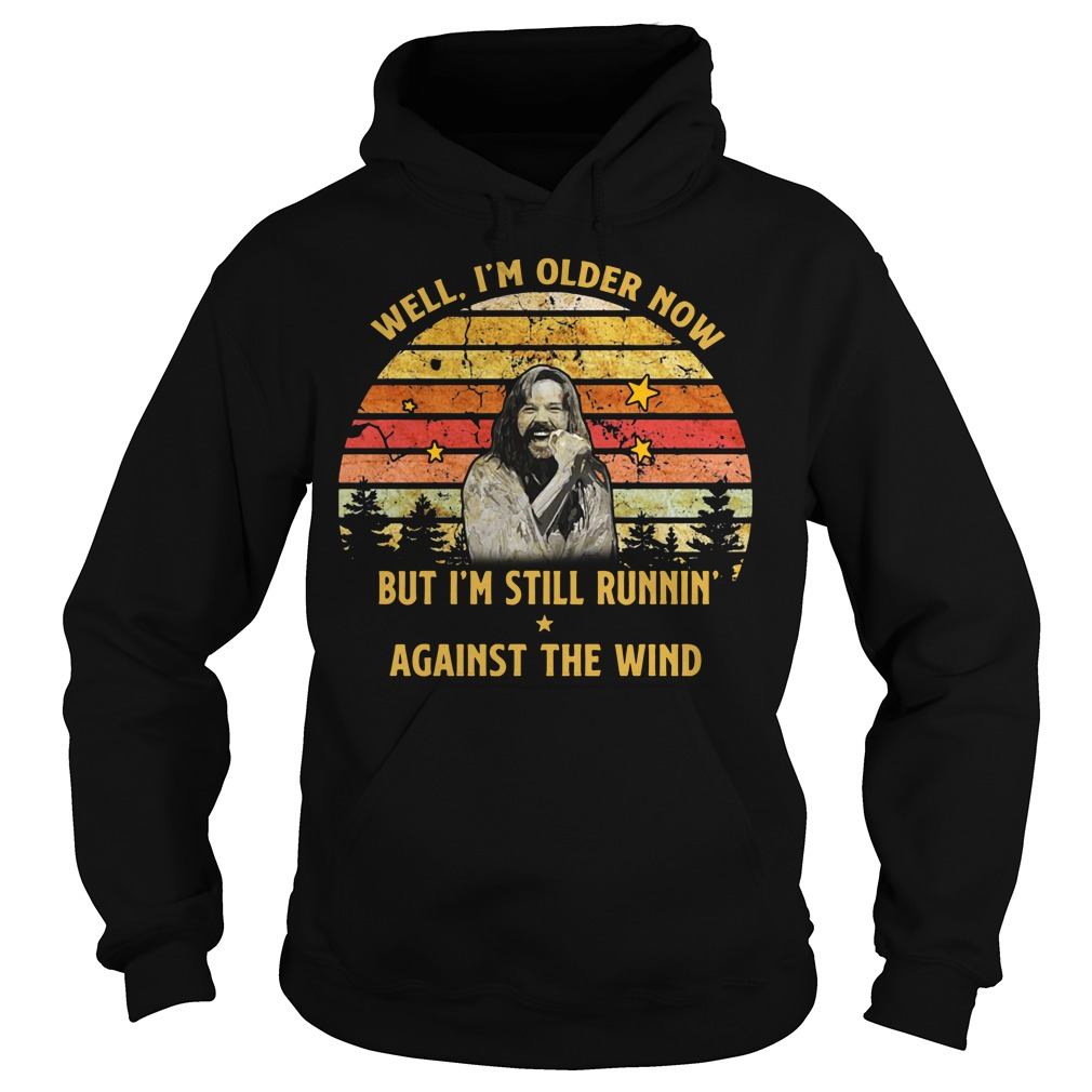Bob Seger Well I'm older now but I'm still runnin' against the wind Hoodie