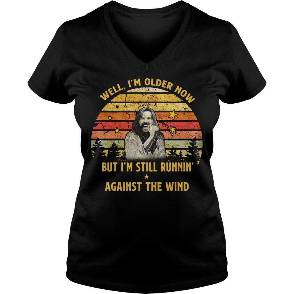 Bob Seger Well I'm older now but I'm still runnin' against the wind V-neck T-shirt