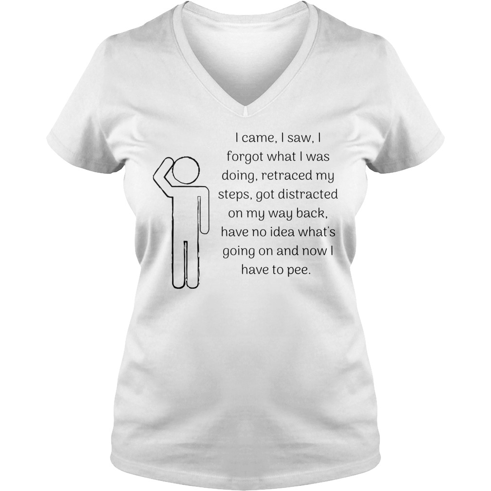 I came I saw I forgot what I was doing retraced my steps V-neck T-shirt