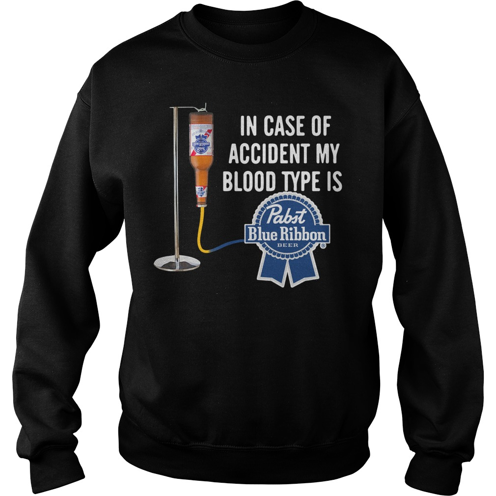 In case of accident my blood type is Past Blue Ribbon Sweater