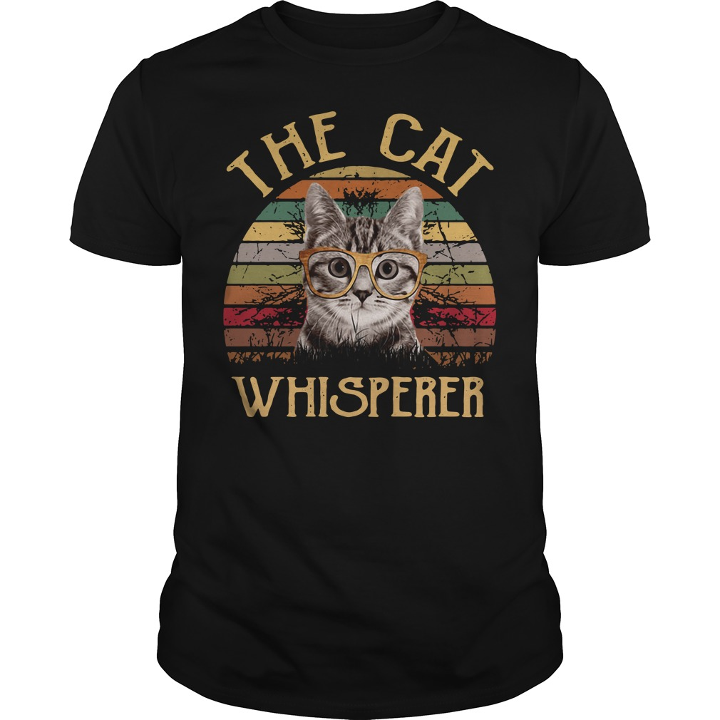 The cat whisperer vintage Guys shirt