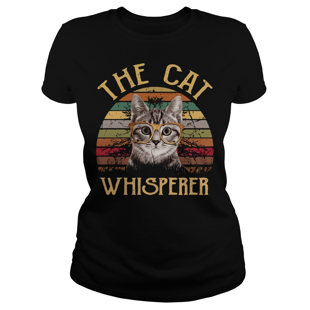 The cat whisperer vintage Ladies Tee