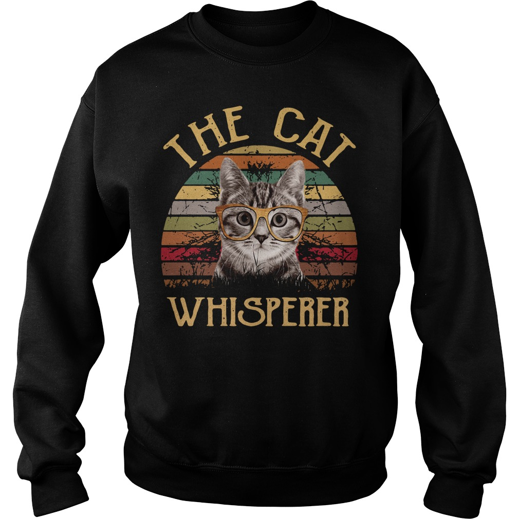 The cat whisperer vintage Sweater