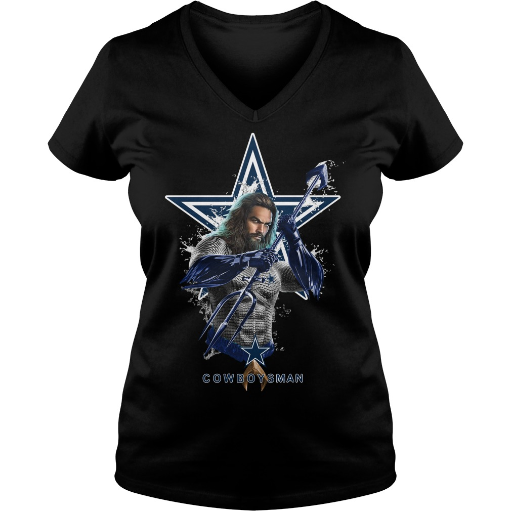 Dallas Cowboys Aquaman Cowboys man V-neck T-shirt