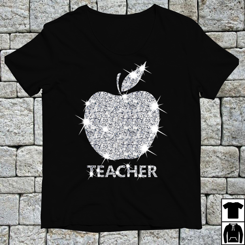 Diamond apple teacher shirt