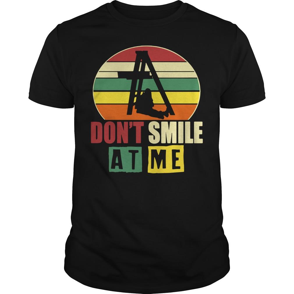 Don't smile at me vintage Guys Shirt