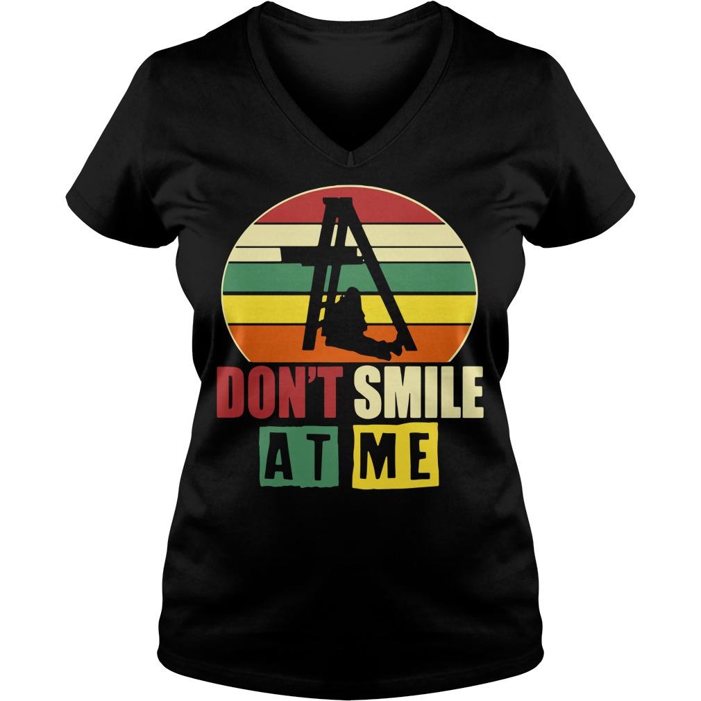 Don't smile at me vintage V-neck T-shirt