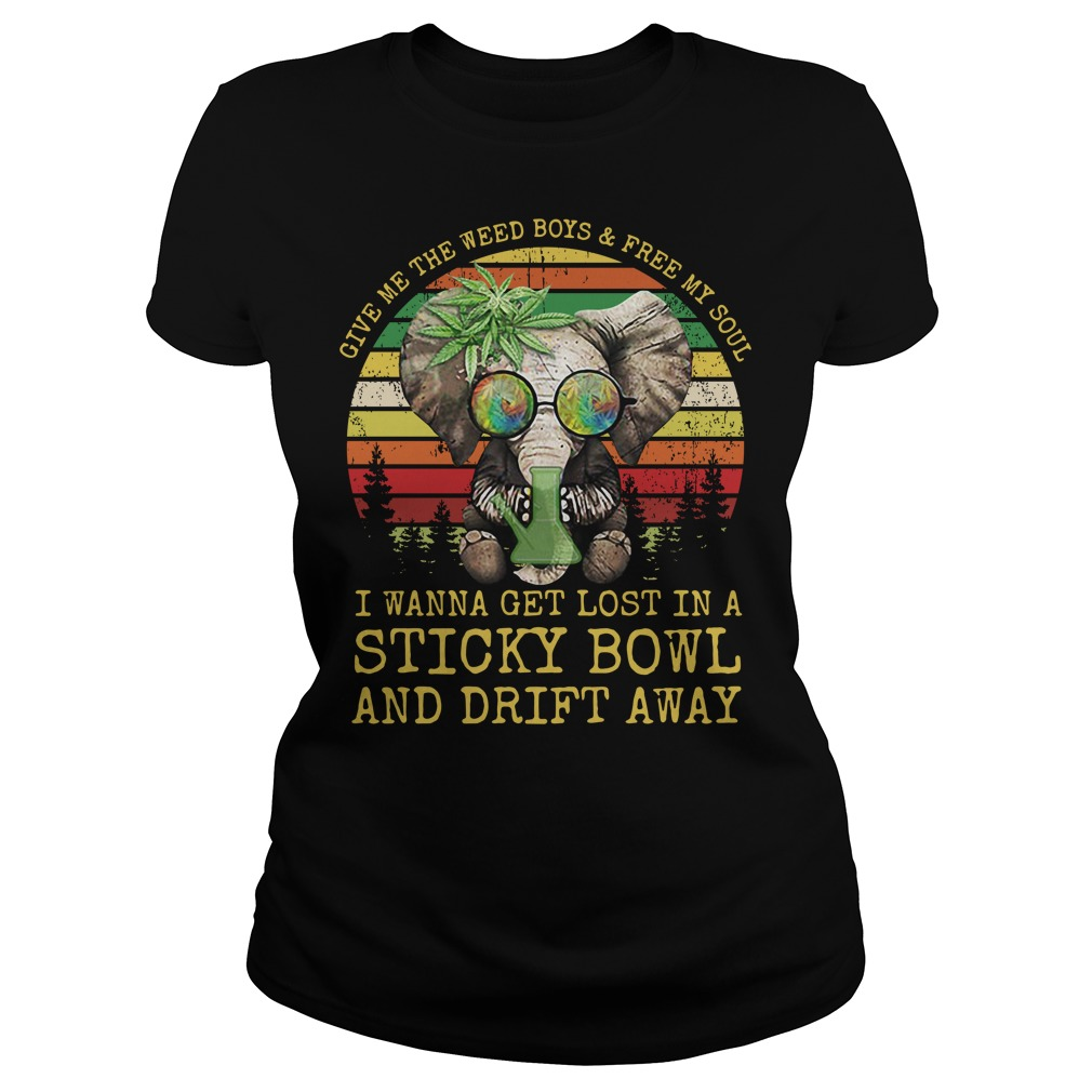 Elephants Hippie give me the weed boys free my soul I wanna get lost Ladies Tee
