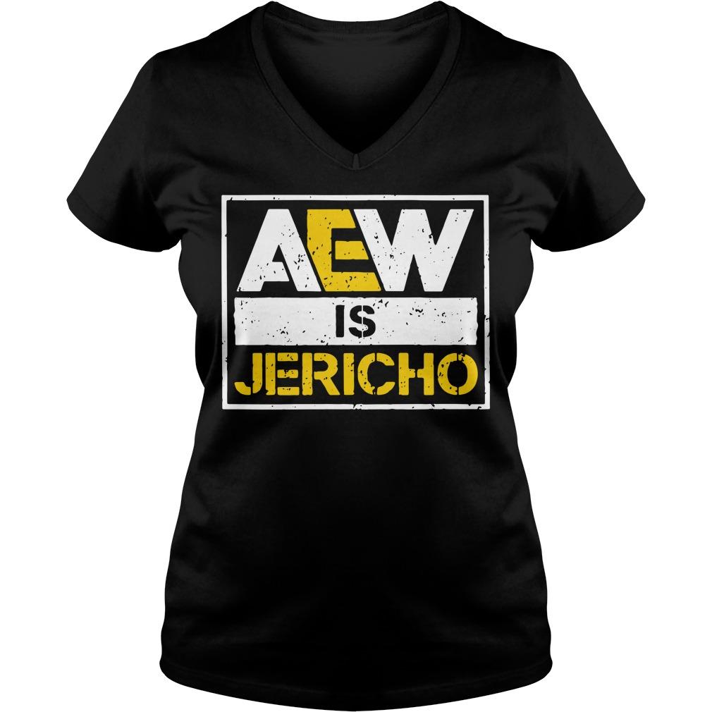 All Elite Wrestling AEW is Jericho V-neck T-shirt