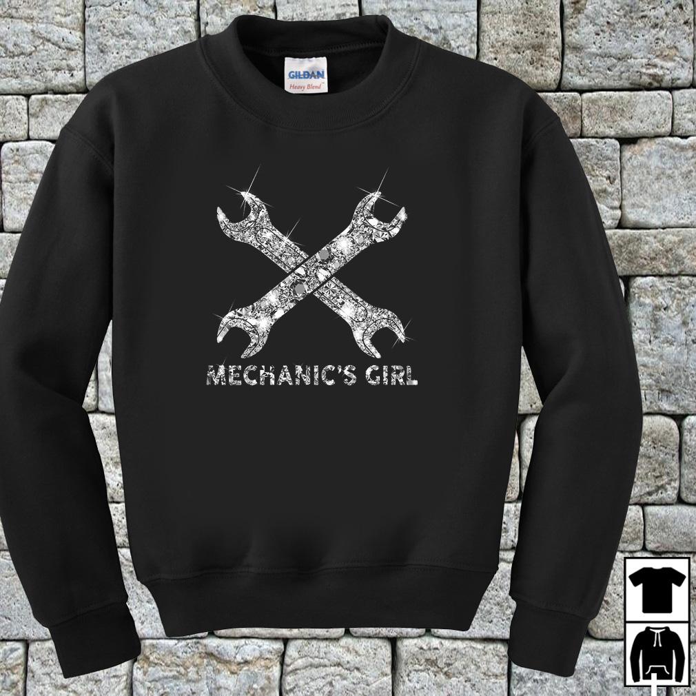 Glitter wrenches mechanics girl shirt