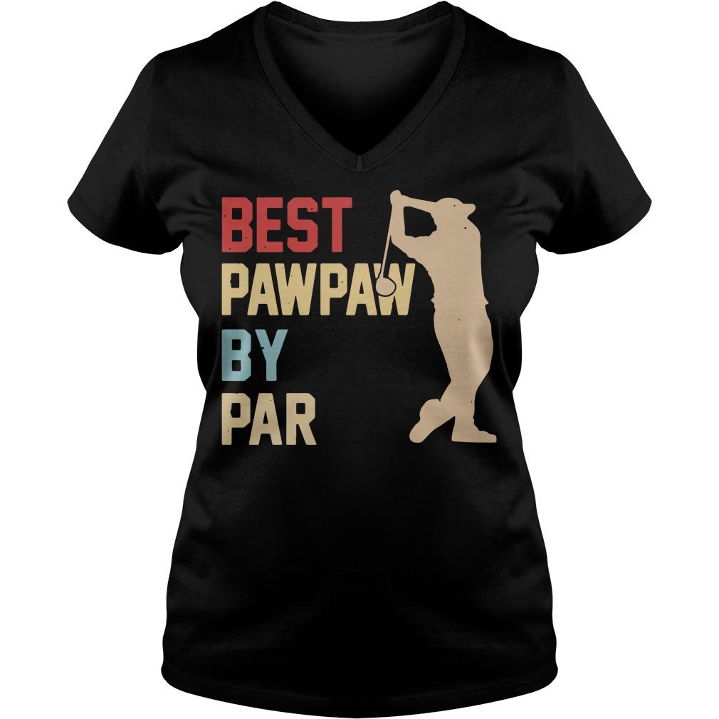 Golf Best Pawpaw by par V-neck T-shirt