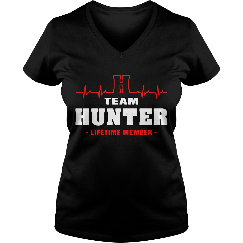 H team hunter lifetime member V-neck T-shirt